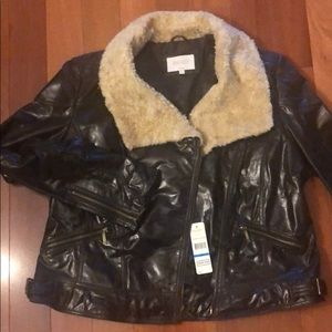 Laundry by shelli segal - xl real leather jacket.